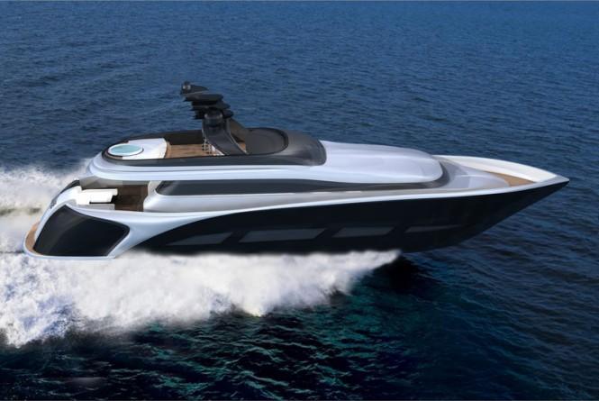 28.5m motor yacht Vento 94 concept by Ira Petromanolaki from IP.YD