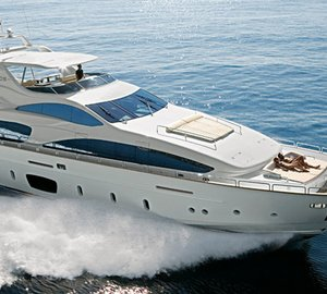 Superyacht Azimut Grande 105' exhibited at the Beirut Boat and Superyacht Show 2012 boasting a new look