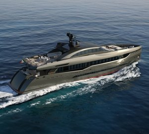 40m motor yacht Columbus Sport 130' Hybrid by Palumbo and interior by Hot Lab Design