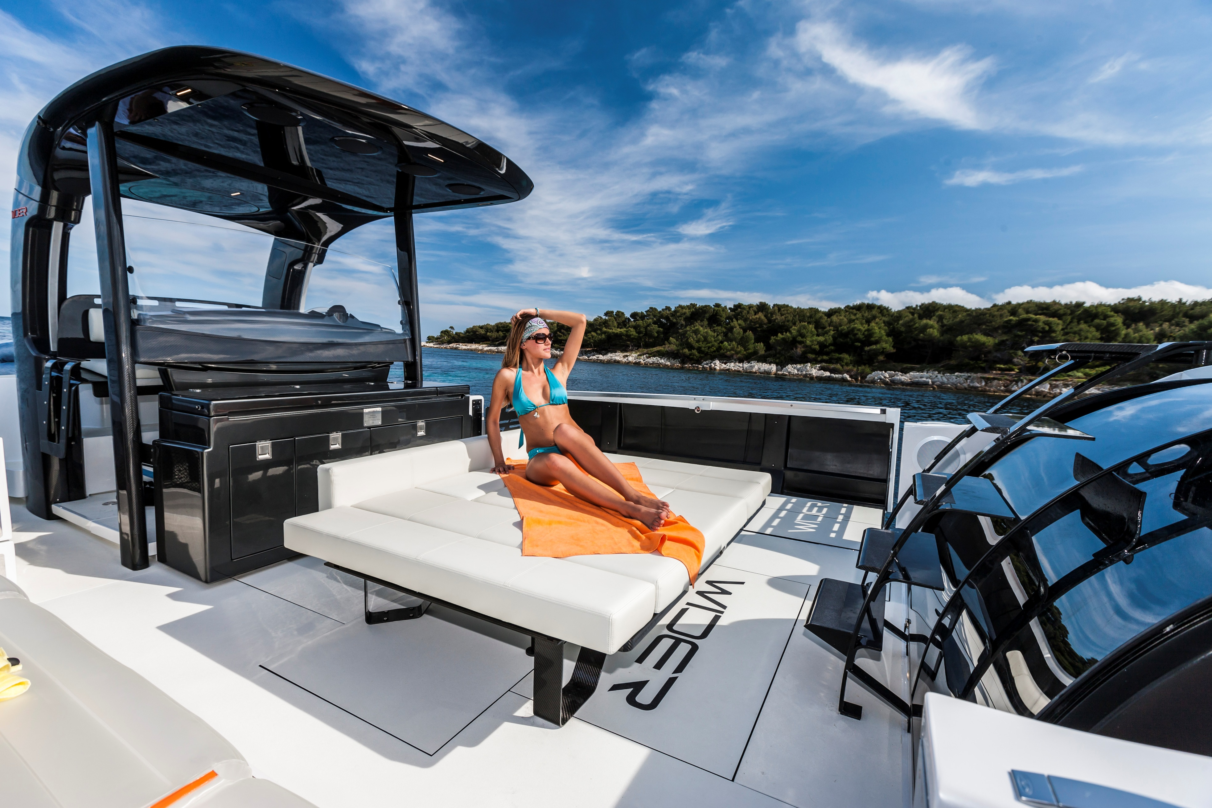 Aboard the luxury yacht WIDER 42´