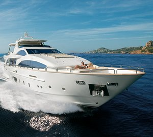 31m motor yacht Azimut Grande 105' presented at the Beirut Boat and Superyacht Show 2012