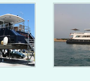 108ft Broward charter yacht Nymphaea (ex Legacy) refitted by Yacht Solutions