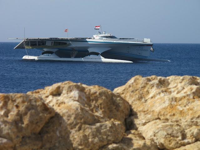Catamaran yacht MS Turanor PlanetSolar in the Red Sea