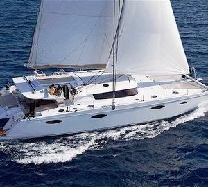 Fountain Pajot Galathea 65 Catamaran WORLD'S END Western Mediterranean charter special