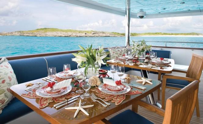 Christensen charter yacht LADY JOY - Al Fresco Dining