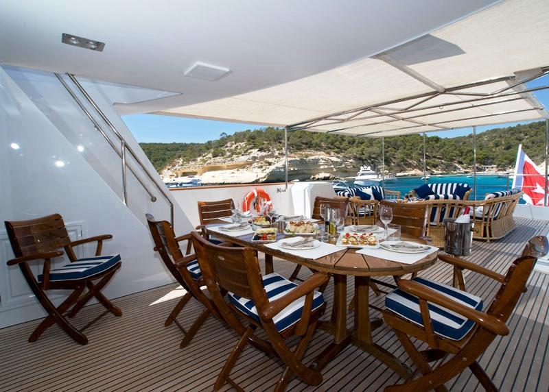 Daniella yacht - Upper Deck