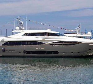Third motor yacht Custom Line 124´ by Ferretti Custom Line successfully launched