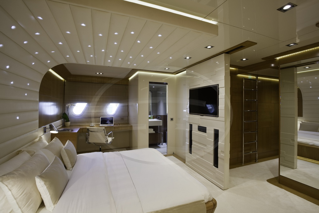 Luxurious interior aboard the Agantur superyacht AD5