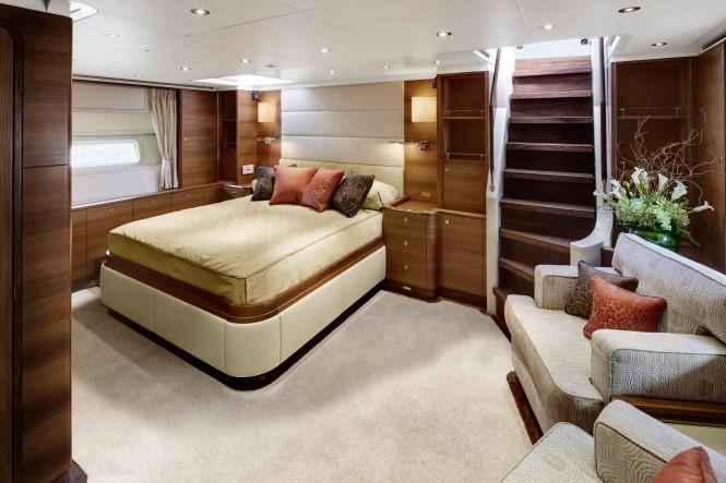 Luxury yacht Antares III Master Cabin