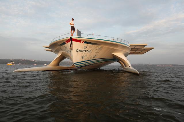 Luxury yacht MS Turanor PlanetSolar in Goa, India