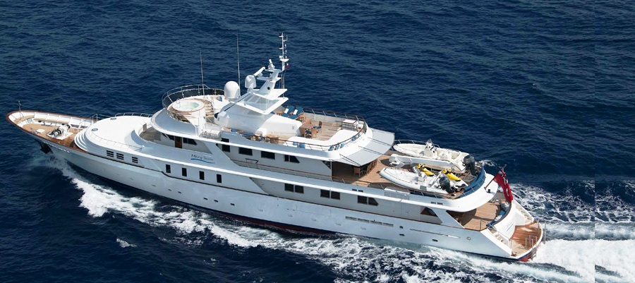 Motor Yacht MARY JEAN - From Above — Yacht Charter