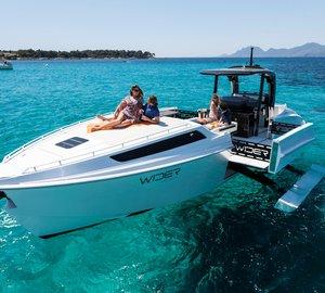 New motor yacht Wider 42' Cote D'Azur Edition presented at the Monaco Historic Grand Prix