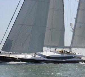 Dubois designed 51.7m sailing yacht Mondango by Alloy Yachts in UK waters