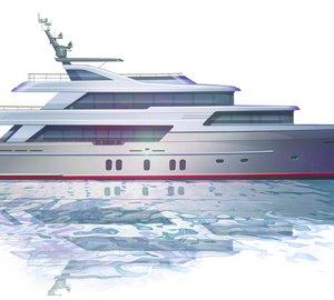 Guido de Groot designed 42m motor yacht concept for Jongert Yachts