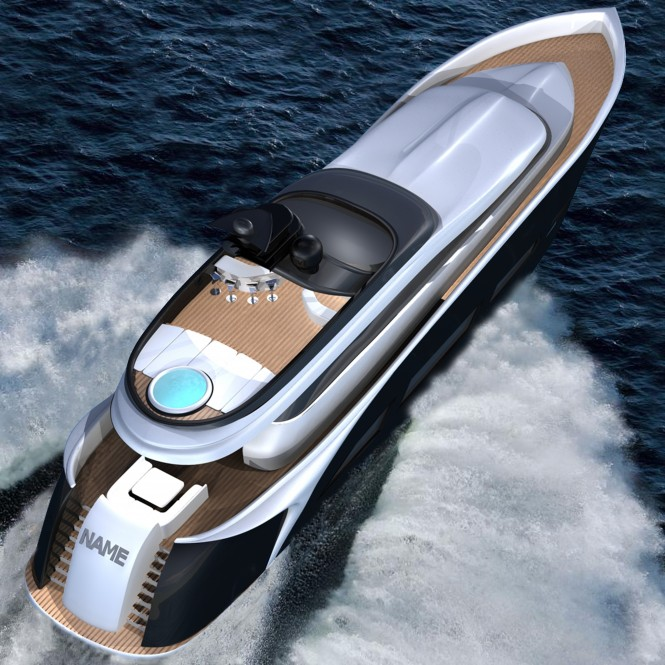 Vento 94 superyacht - view from above