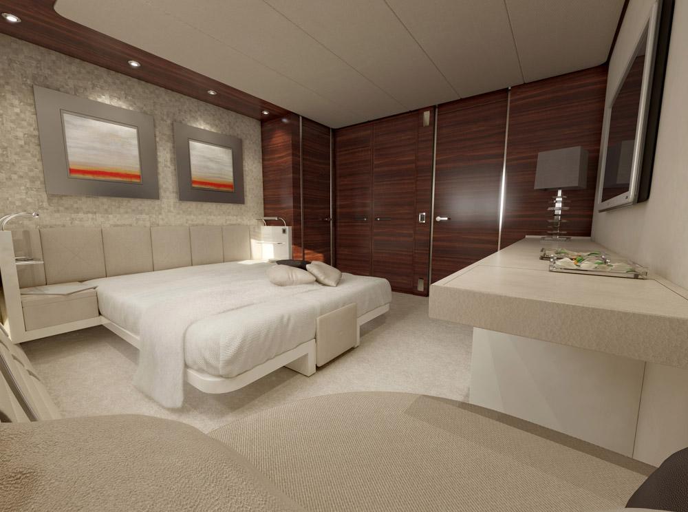 Vulcan superyacht Guest Suite