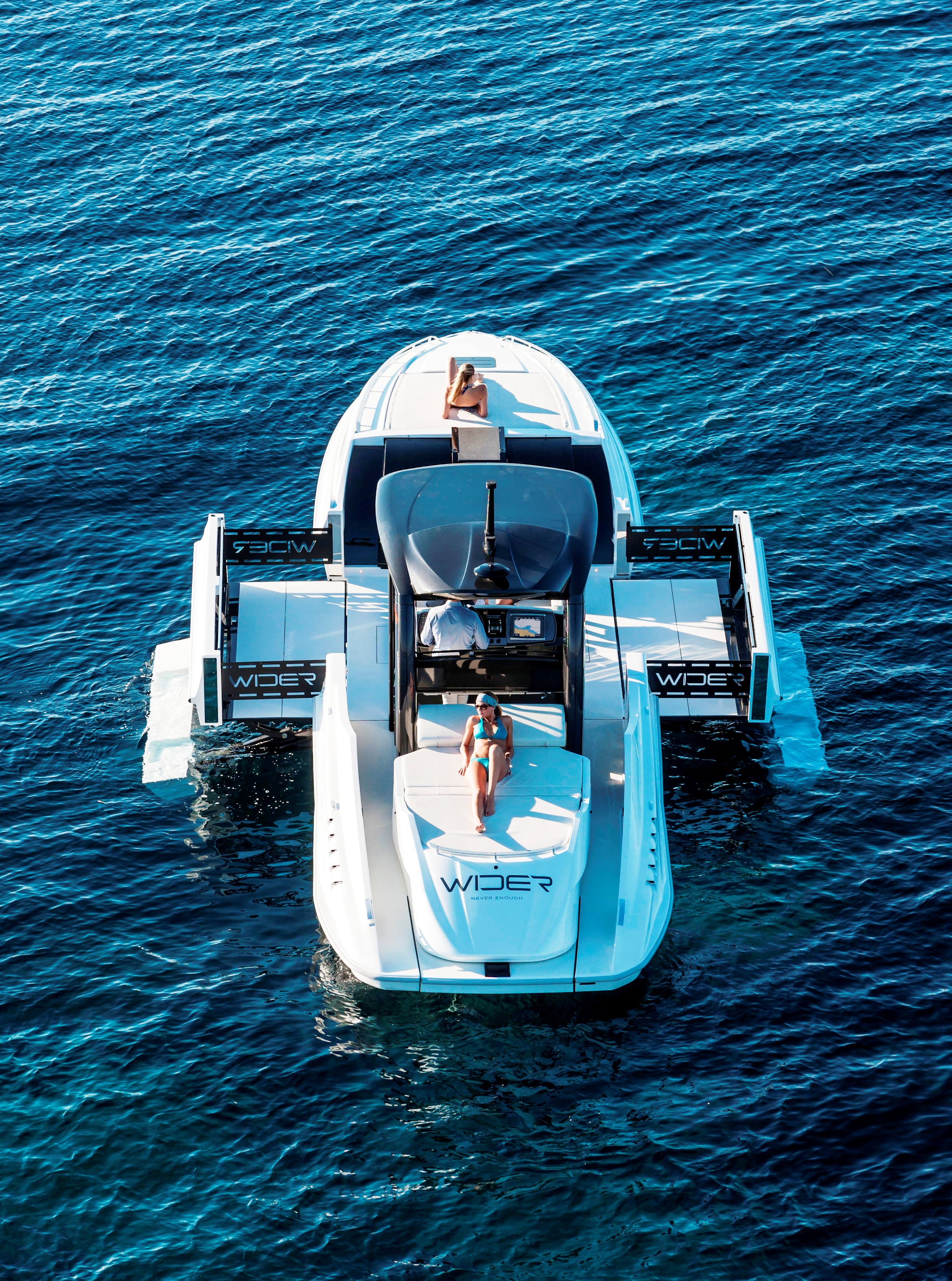 WIDER 42´ yacht - view from above