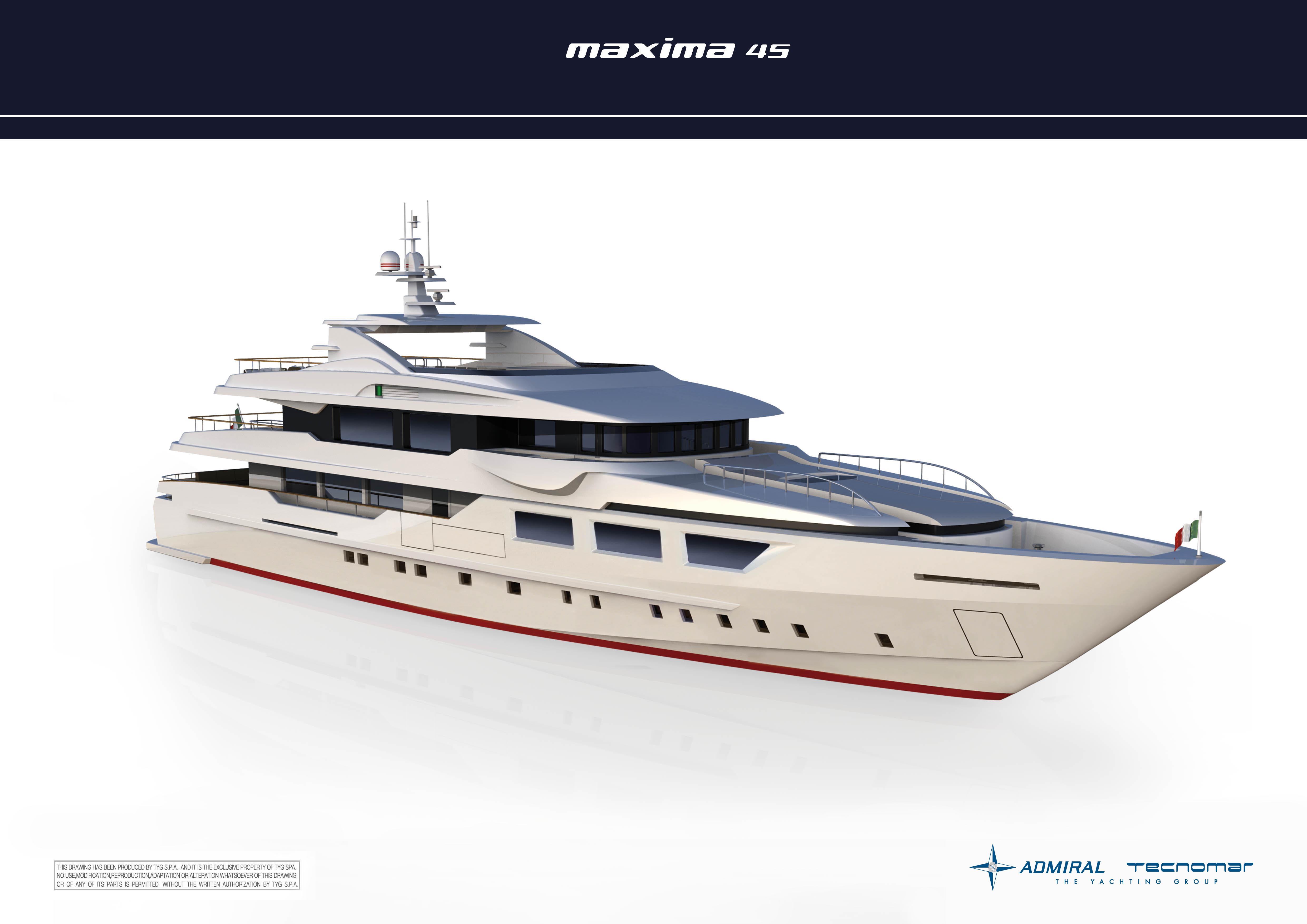 45m luxury motor yacht MAXIMA 45 by Admiral Tecnomar Group