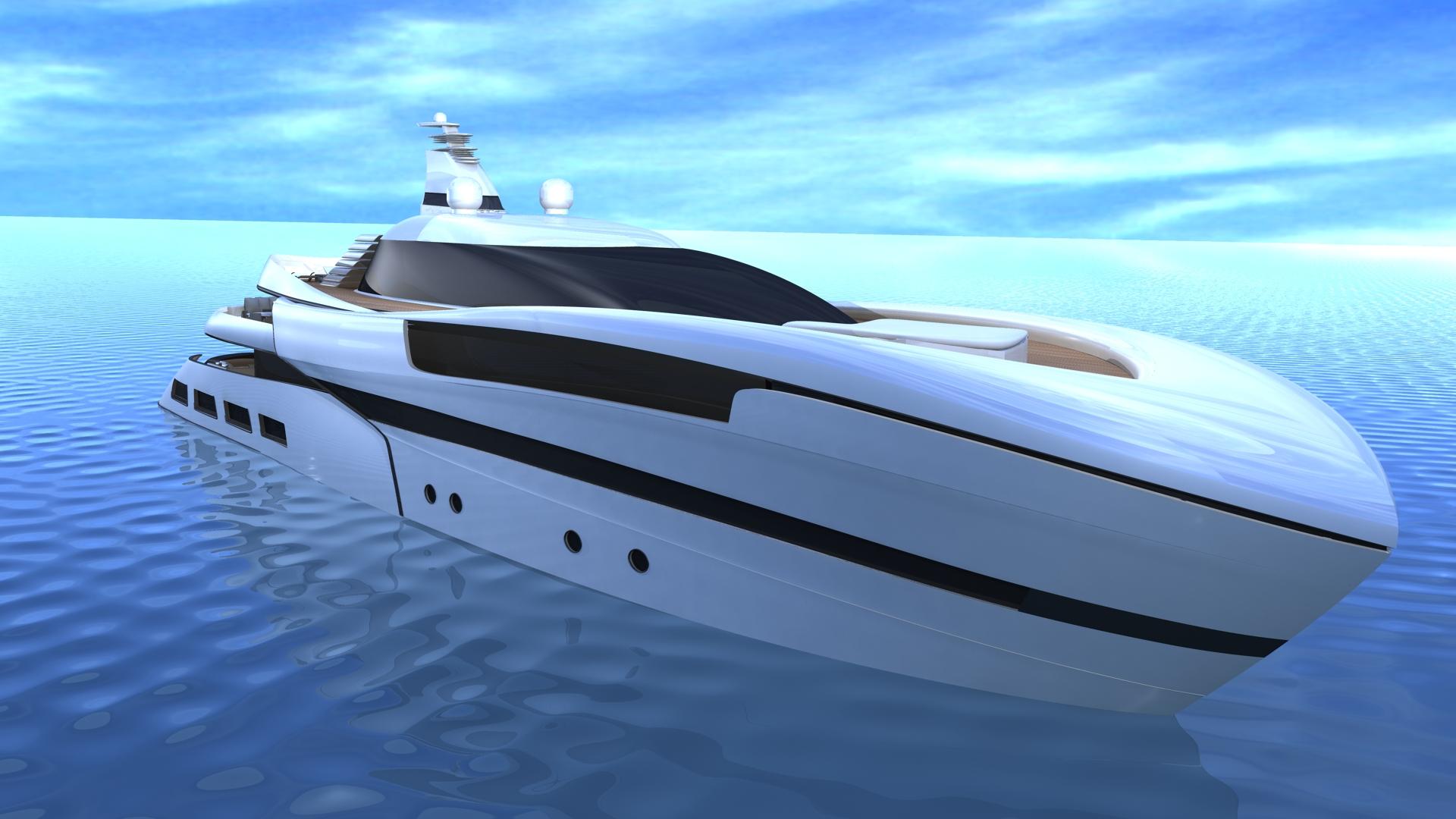 55 m motor yacht Project SMEW by Ira Petromanolaki