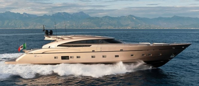 A sistership to AB 116 motor yacht Diamond - superyacht Lowress
