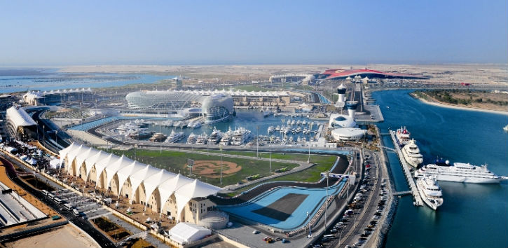 Fabulous Yas Marina from South