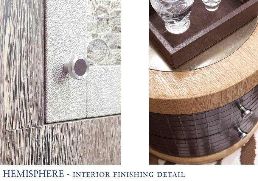 Hemisphere yacht - Interior Finishing Detail - Image courtesy of Pendennis