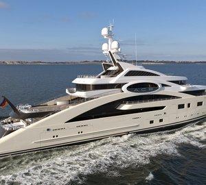 87m Lurssen superyacht ACE (ex Project Rocky) delivered