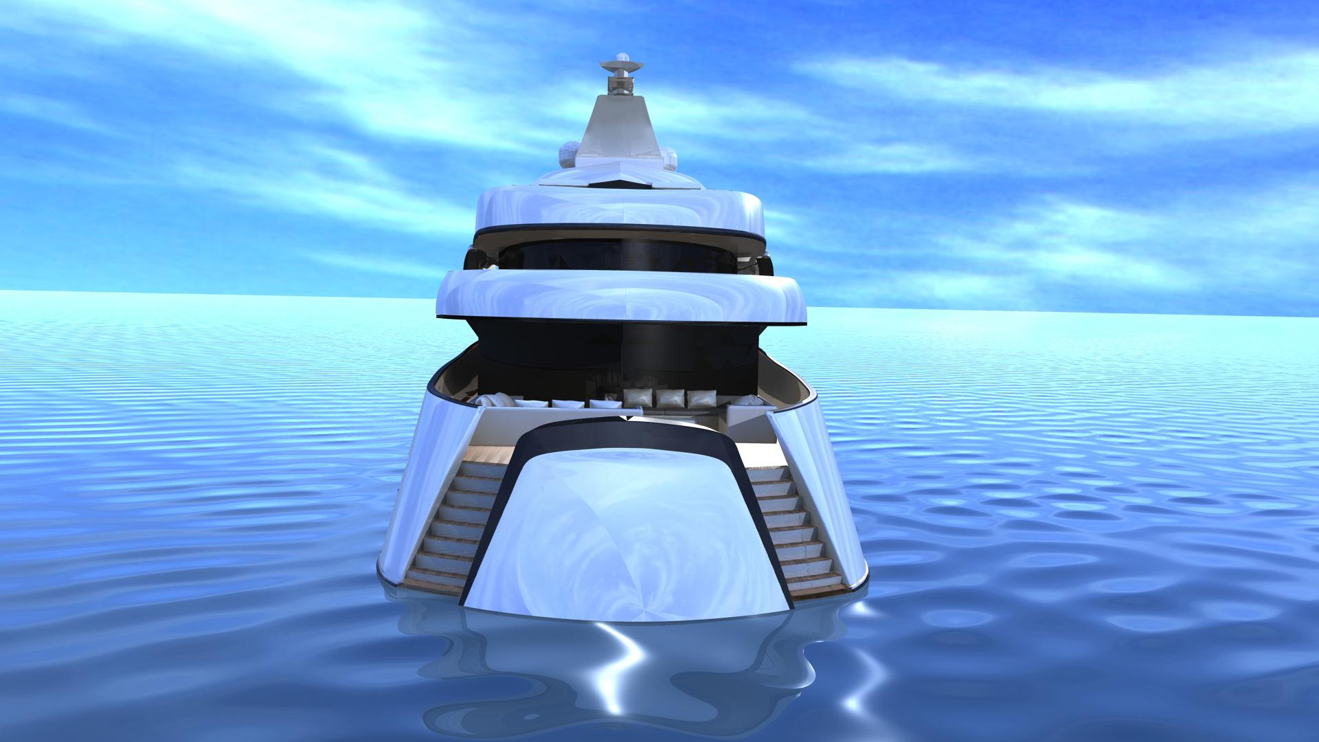 Luxury superyacht Project SMEW by IPYD