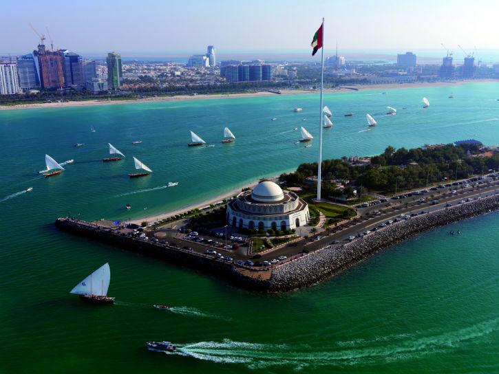 Racing in the Abu Dhabi's superyacht marina