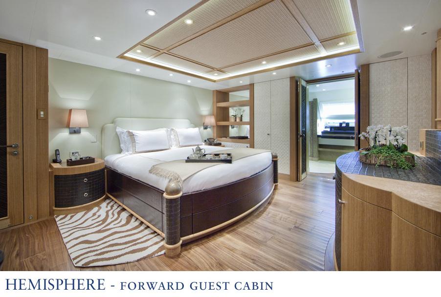 Sailing catamaran Hemisphere - Forward Guest Cabin - Image courtesy of Pendennis