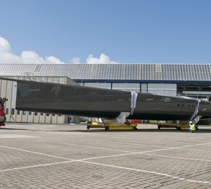 The first 100ft WallyCento class sailing yacht HAMILTON launched today