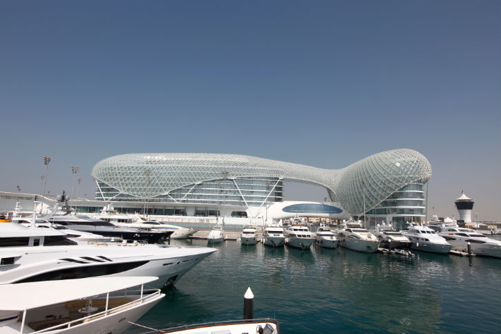 Yas Marina - an amazing superyacht marina situated in Abu Dhabi
