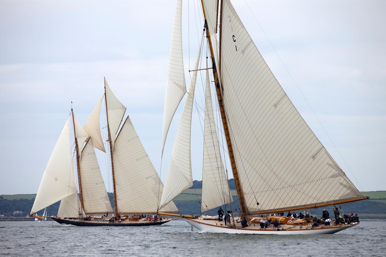 2012 Pendennis Cup Day 3 Superyacht Mariquita battles luxury yacht Mariette