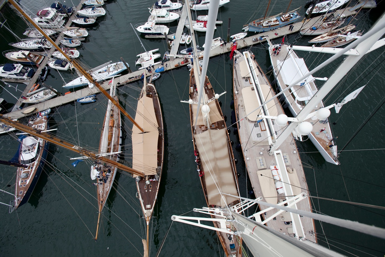 2012 Pendennis Cup Day 3 The marina