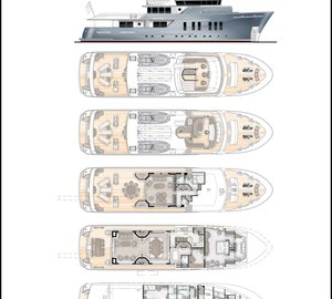 33m Explorer motor yacht Vripack 110 by RMK Marine and Vripack Design