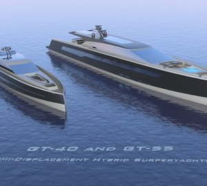 New 40m motor yacht GT-40 H and 55m superyacht GT-55 H by Imaginocean Yacht Design
