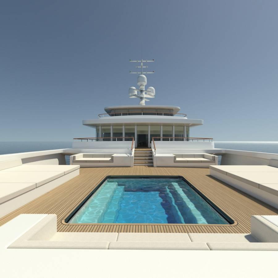 55m luxury motor yacht Light 180 by Bilgin Yachts and Nauta Design