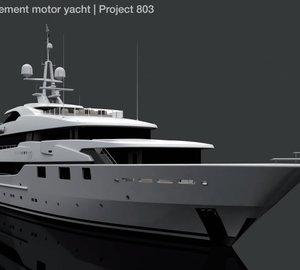 Andrew Winch designed 60m CMN motor yacht Project 803 for sale