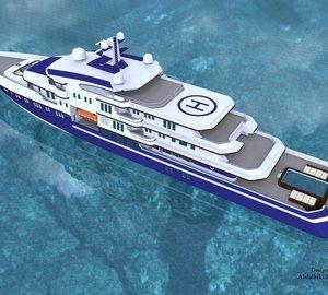 90m Motor Yacht Concept by Abdulbaki Senol