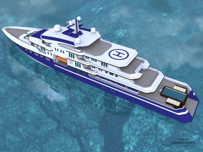 90m Mega Yacht Concept by Abdulbaki Senol