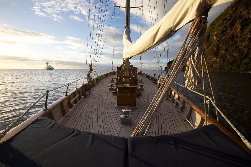 Aboard luxury yacht Sincerity