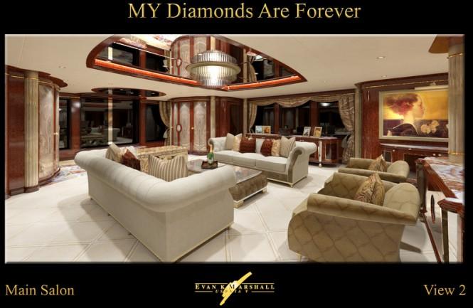 Benetti luxury yacht Diamonds Are Forever - Main salon