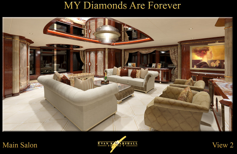 Benetti luxury yacht Diamonds Are Forever - Main salon