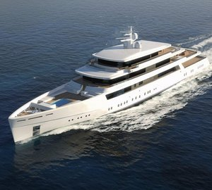 New 55m motor yacht LIGHT 180' concept by Bilgin Yachts and Nauta Design for sale