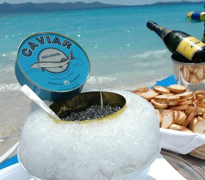 Caviar on the Beach - Superyacht Sea Dream
