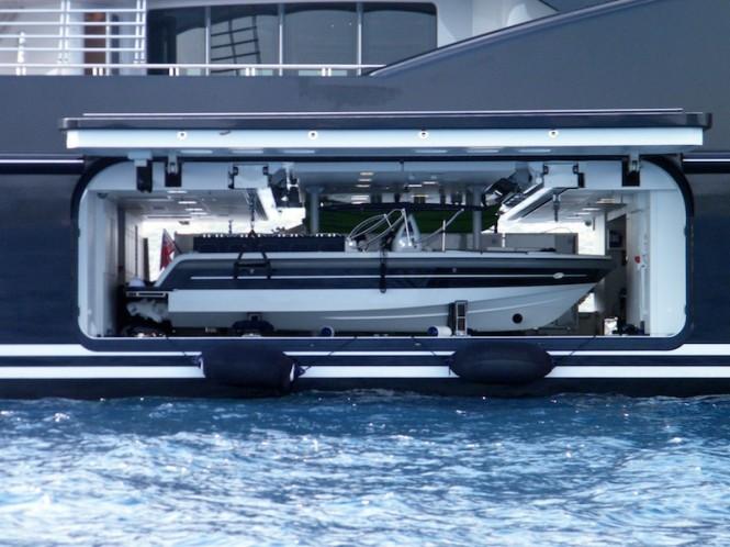 Fincantieri SERENE superyacht - tender launch