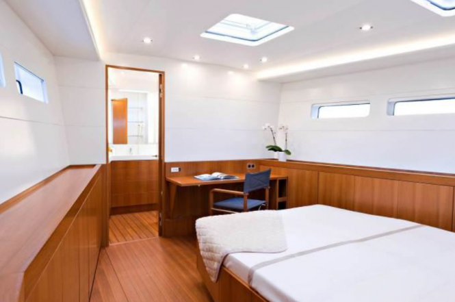 Interior of the luxury yacht GOF - a Baltic 83 yacht by Baltic Yachts