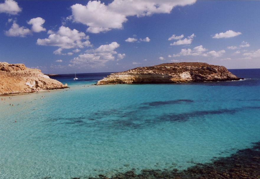Lampedusa in the Mediterranean