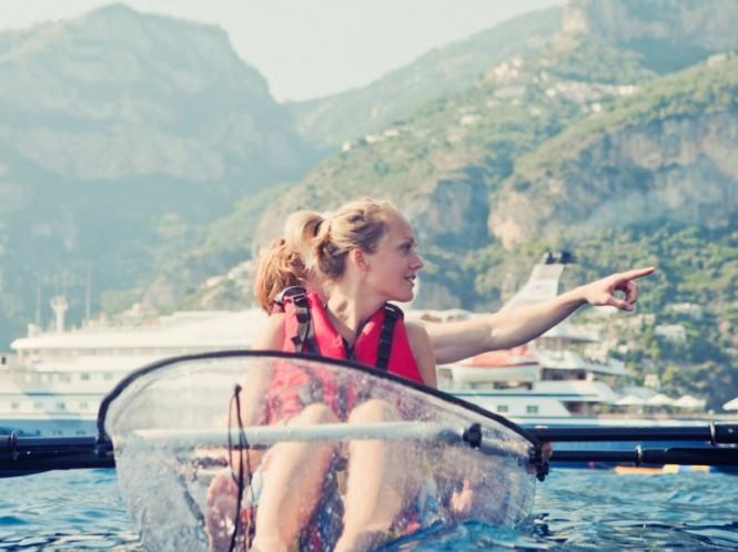 Luxury mega yacht Sea Dream - Glass Bottom Kayak