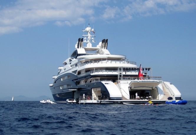 Serene superyacht -aft view -